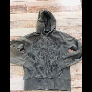 Obey mixed tape zip up hoodie size small